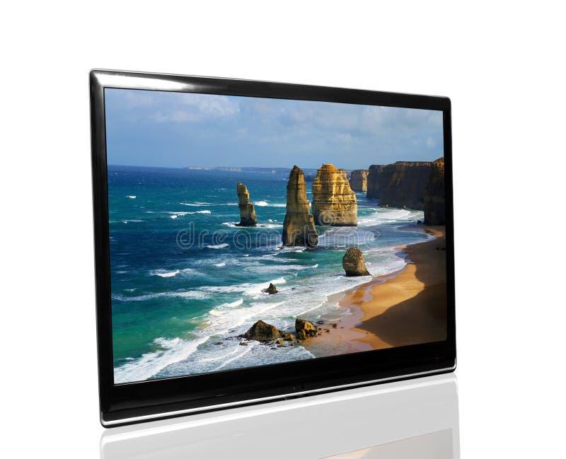 Fernsehapparat überwachen lizenzfreie stockbilder