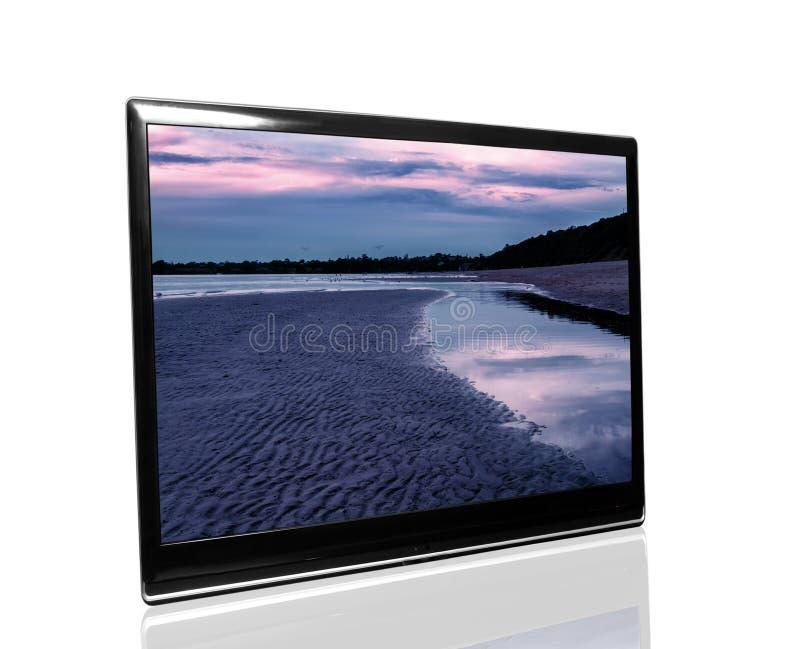 Fernsehapparat überwachen stockfotos