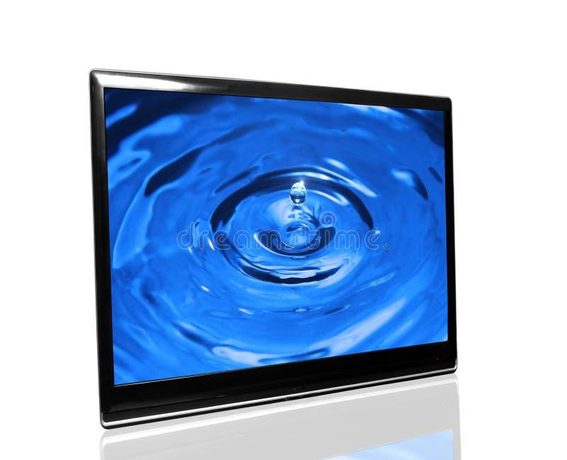 Fernsehapparat überwachen lizenzfreie stockfotografie