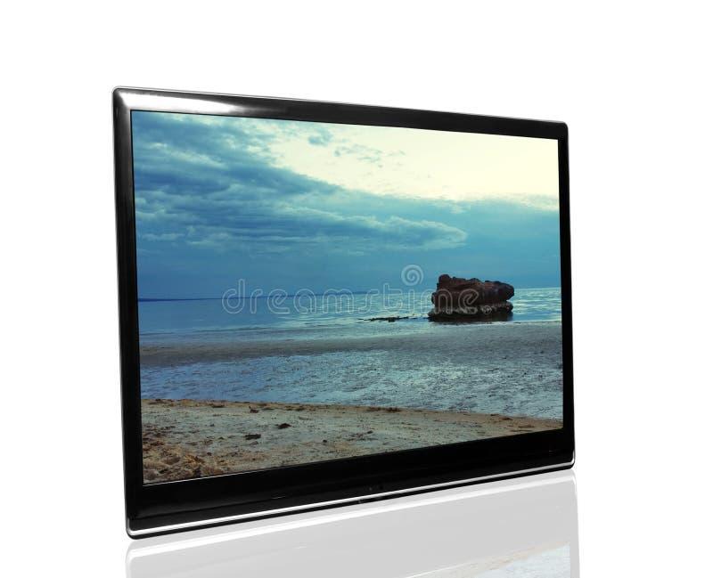 Fernsehapparat überwachen stockbilder