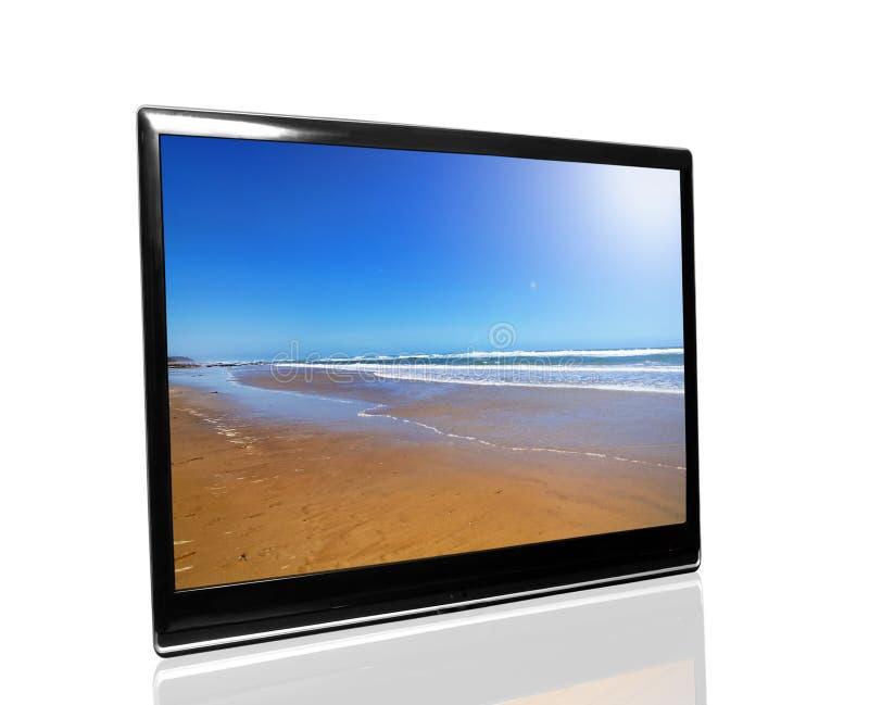 Fernsehapparat überwachen stockbild