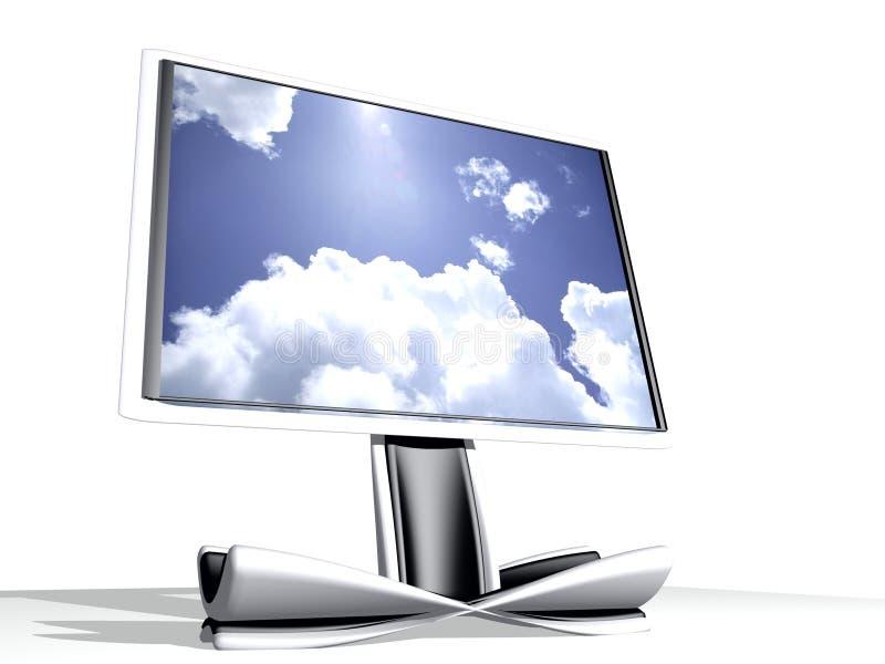 Fernsehapparat 3d stock abbildung