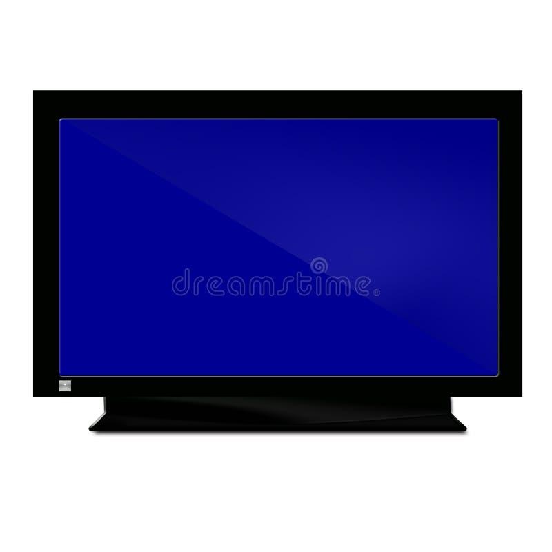 Fernsehapparat dunkelblau stock abbildung