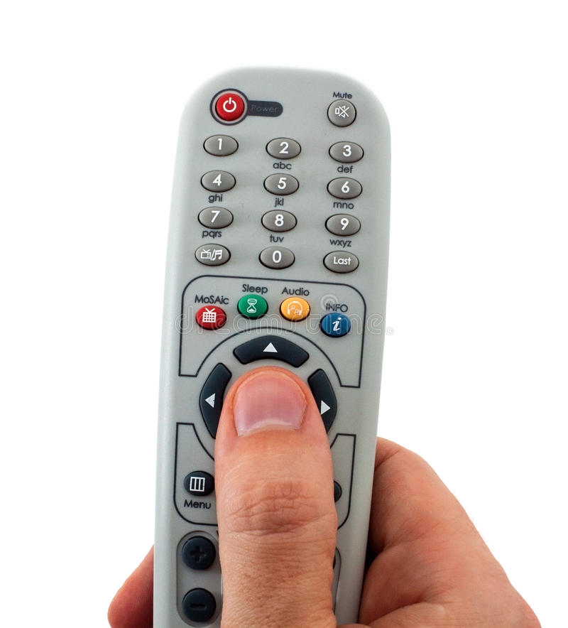 Fernsehapparat Fernsteuerungs stockfoto