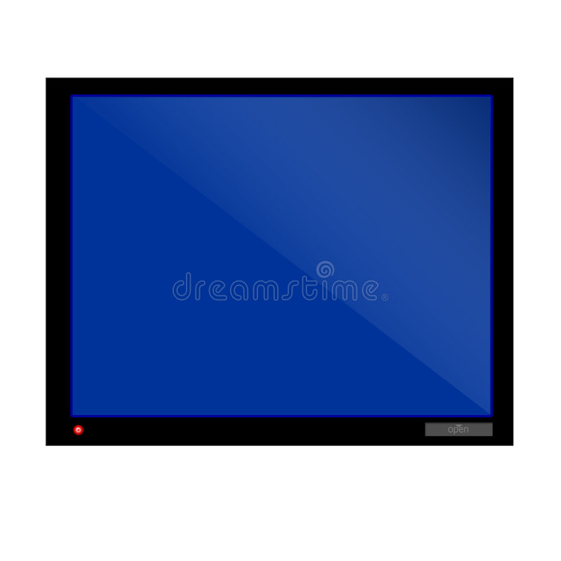 Fernsehapparat groß lizenzfreie abbildung