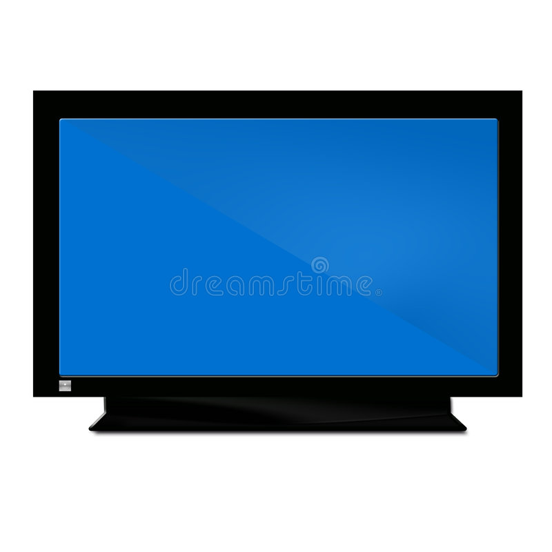 Fernsehapparat hellblau vektor abbildung