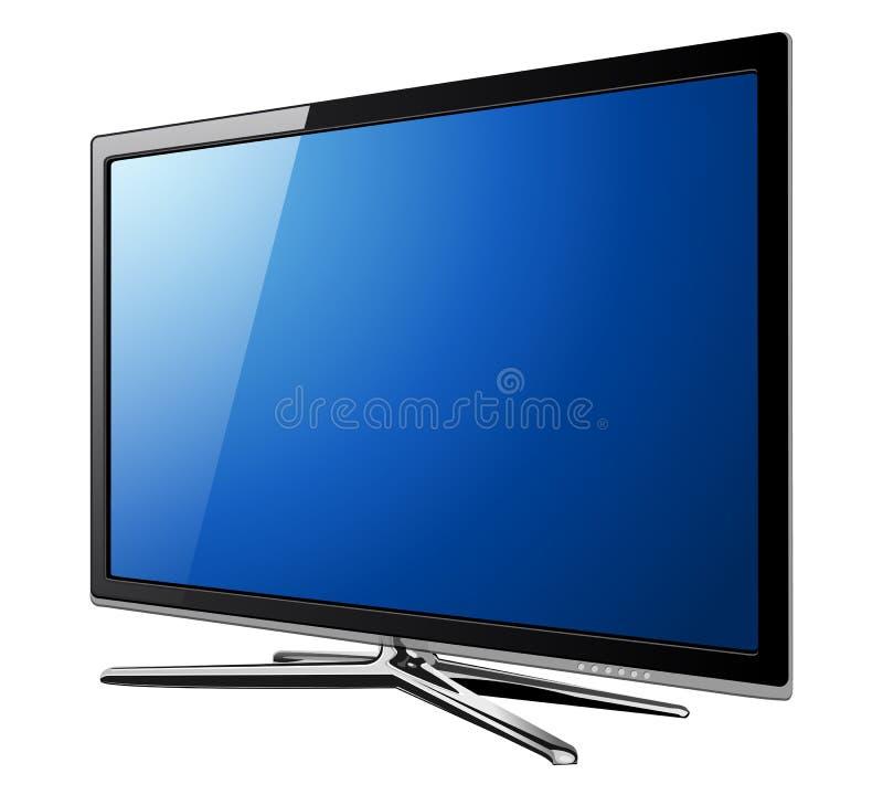 Fernsehapparat lcd lizenzfreie abbildung