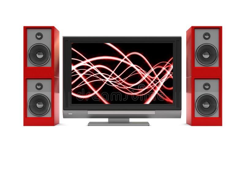 Fernsehapparat und Audiosystem vektor abbildung