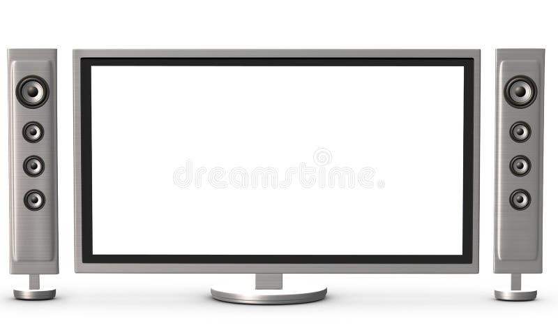 Fernsehapparat und Lautsprecher lizenzfreie stockfotografie