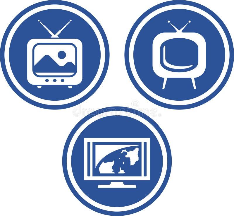 Fernsehapparat - Vektorikonen lizenzfreie abbildung