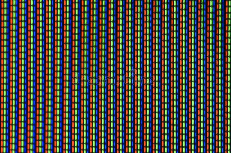 Fernsehbildschirm im Makro lizenzfreies stockbild