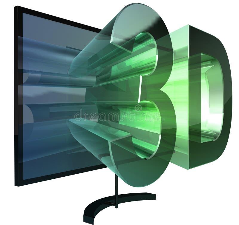 Fernsehen 3D lizenzfreie abbildung