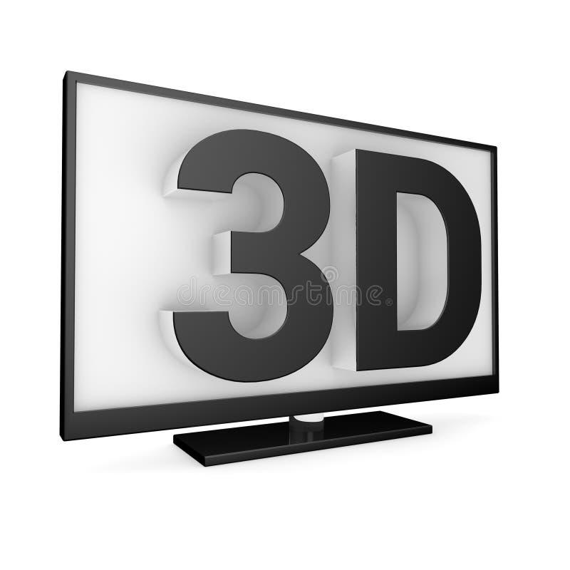 Fernsehen 3D stock abbildung