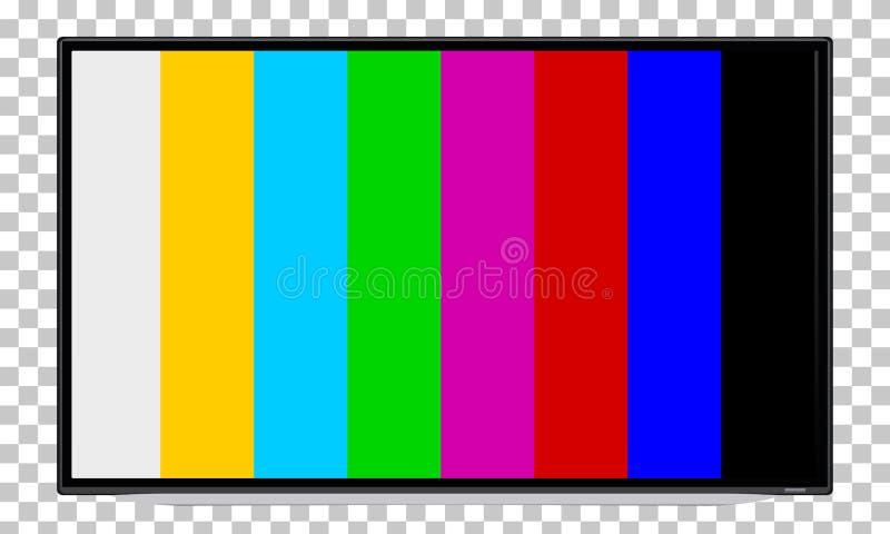 Fernsehen, Fernsehen, Gerätschirm mit Steuerbild lizenzfreies stockbild