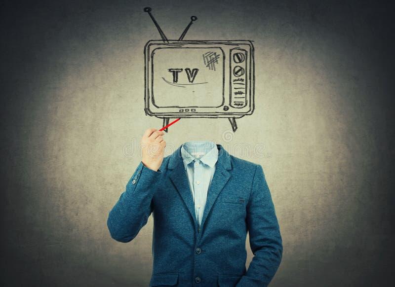 Fernsehen ging voran lizenzfreies stockfoto