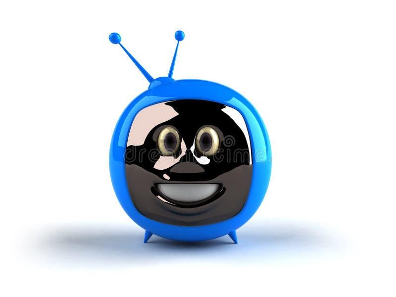 Fernsehen mit einem Gesicht lizenzfreie abbildung