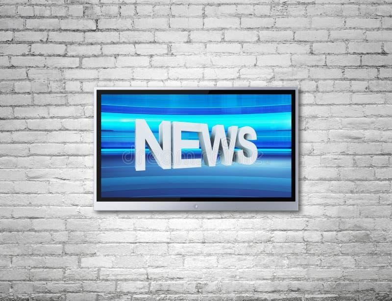 Fernsehen mit Nachrichten lizenzfreie stockfotografie