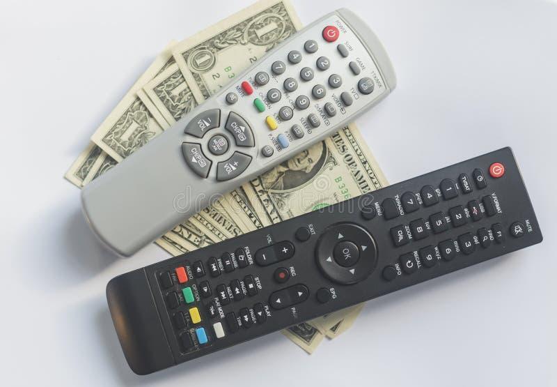 Fernsehens- gegen Bezahlung oder Fernsehkonzept stockbilder