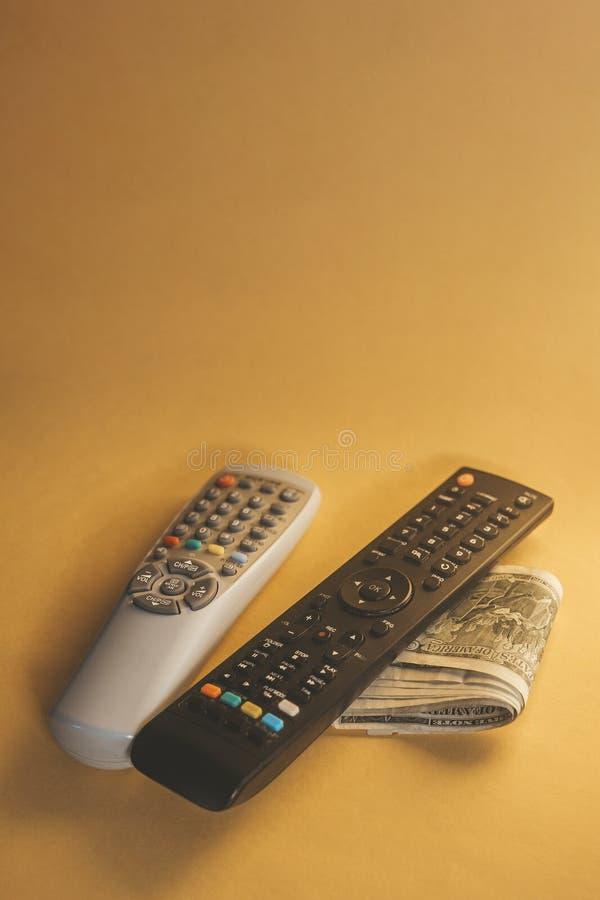 Fernsehens- gegen Bezahlung oder Fernsehkonzept lizenzfreies stockbild
