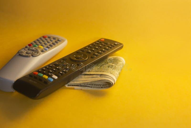 Fernsehens- gegen Bezahlung oder Fernsehkonzept lizenzfreie stockbilder