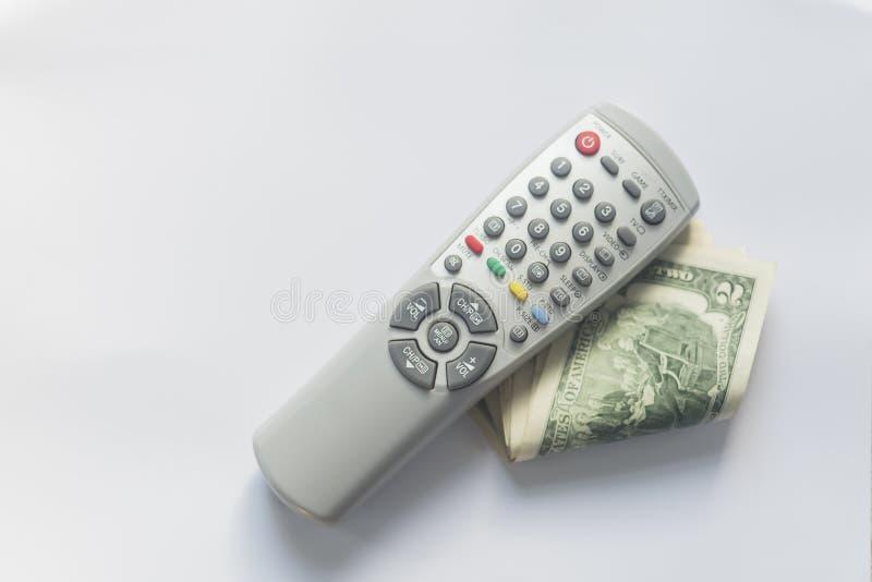 Fernsehens- gegen Bezahlung oder Fernsehkonzept lizenzfreie stockfotografie