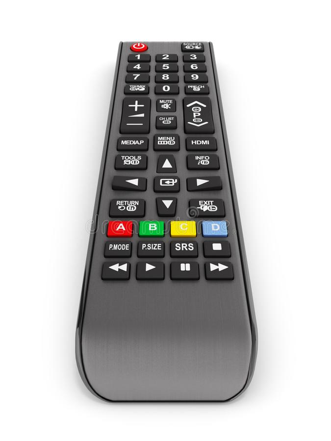 Fernsehfernbedienung lokalisiert auf wei?em Hintergrund 3d zu ?bertragen lizenzfreie abbildung