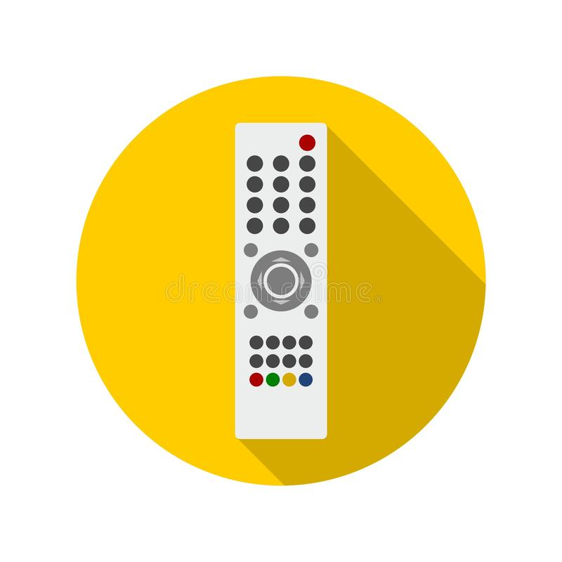 Fernsehfernbedienungsikone Flache Art lizenzfreie abbildung