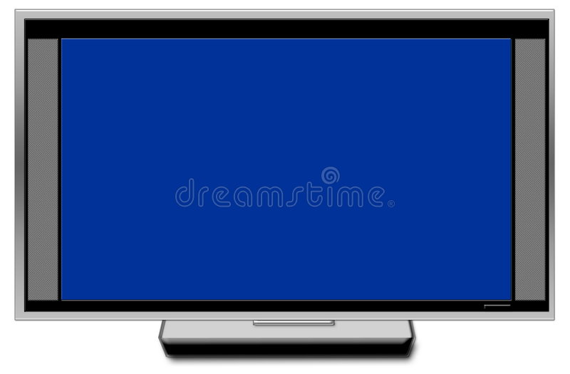 Fernsehgroßer Bildschirm mit internem SP lizenzfreie stockfotografie