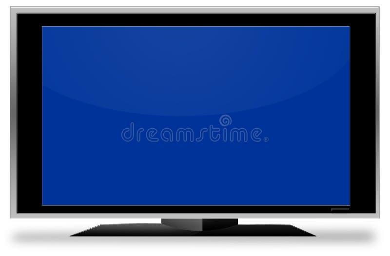Fernsehgroßer blauer Bildschirm stockfotos