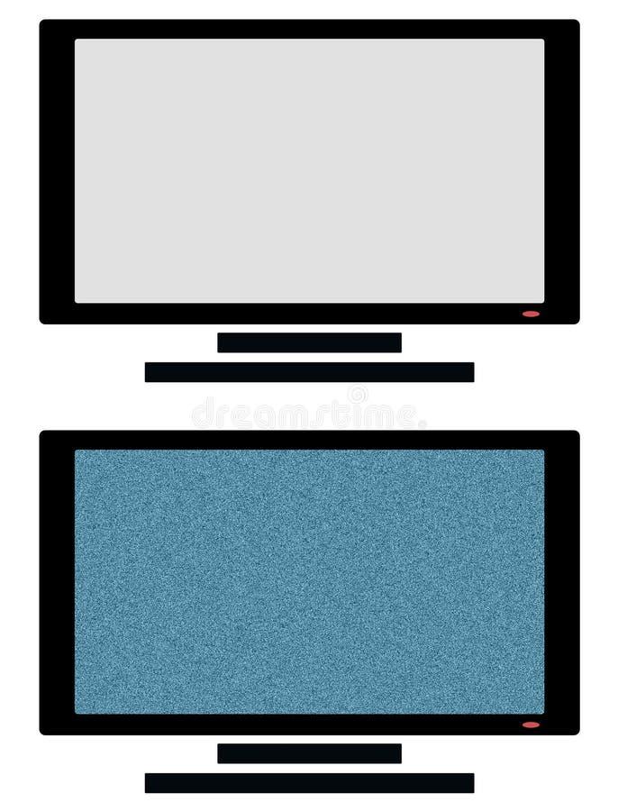 Fernsehikone (auf und Aus-Zustand) stockbilder
