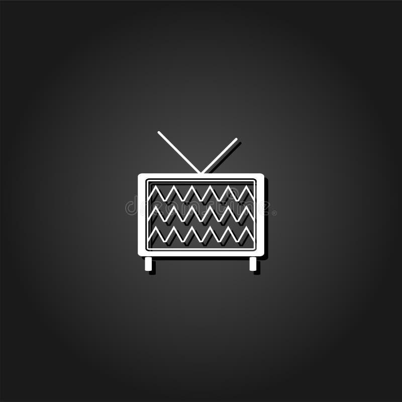 Fernsehikone flach vektor abbildung