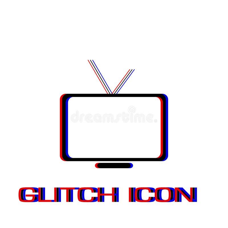 Fernsehikone flach stock abbildung