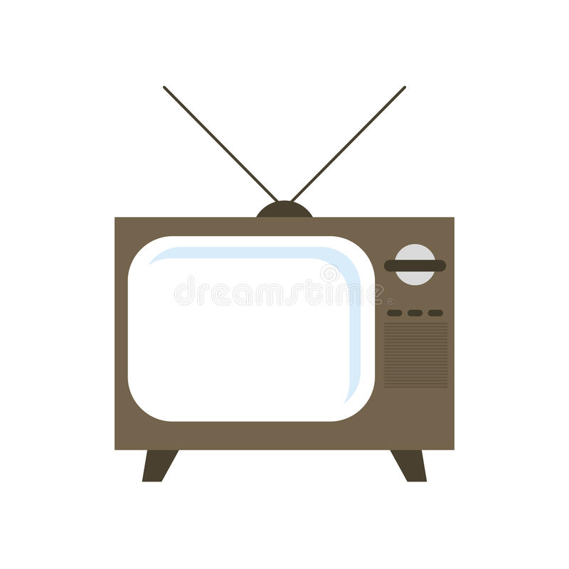Fernsehikone Retro- Auslegung Dekorativer Hintergrund als stilisiert Strudel der Wellen vektor abbildung