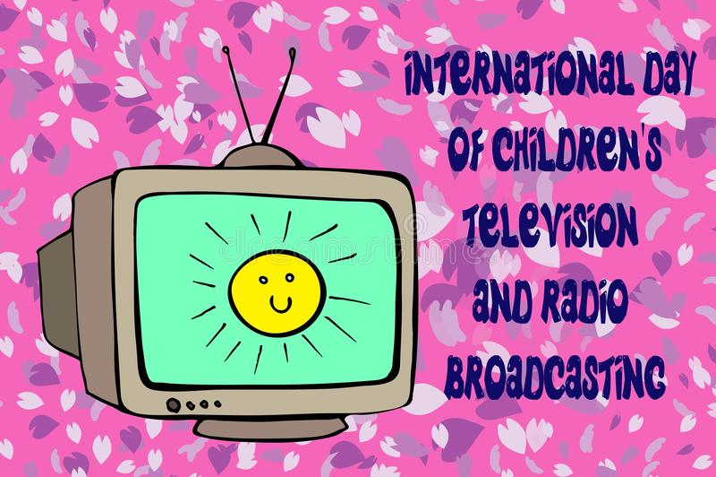Fernsehinternationaltag stock abbildung
