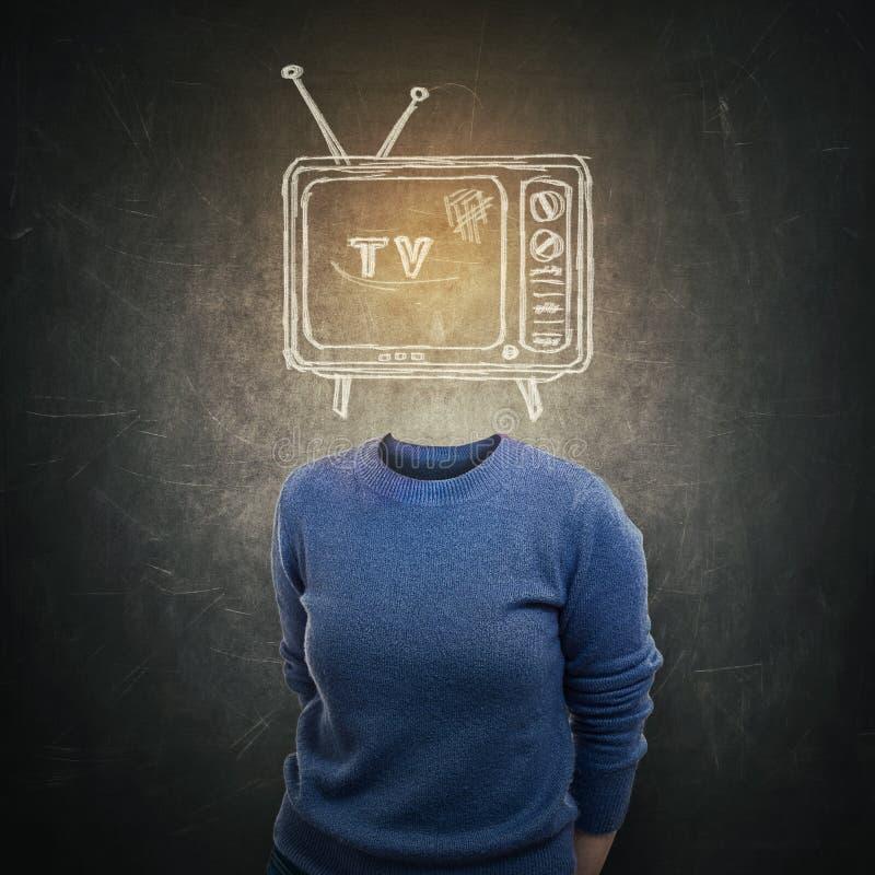 Fernsehmanipulation lizenzfreies stockbild