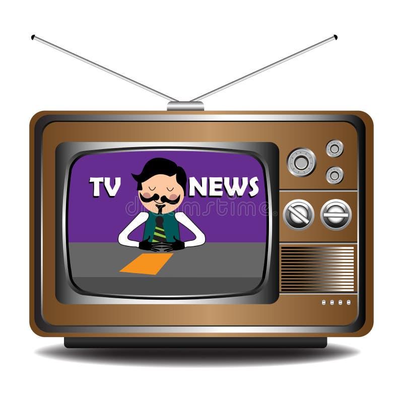 Fernsehnachrichten lizenzfreie abbildung