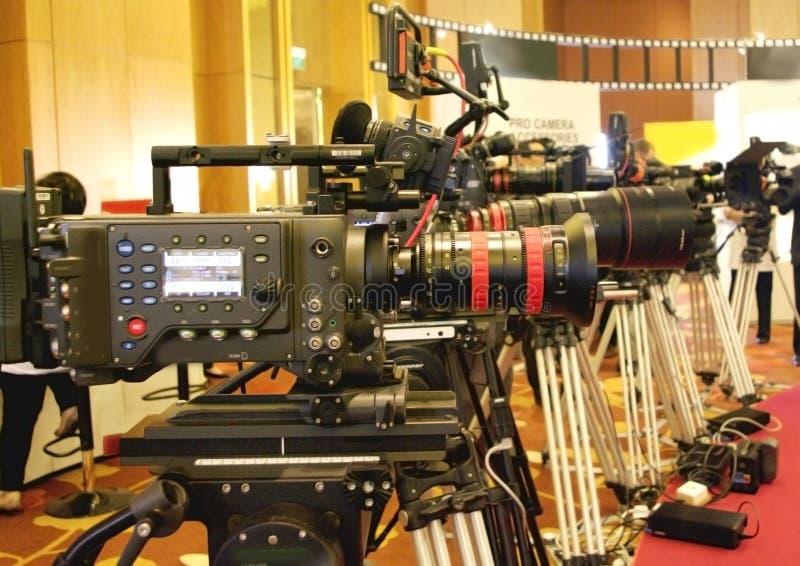 Fernsehrundfunkkamera für Berufsvideodreh stockfoto