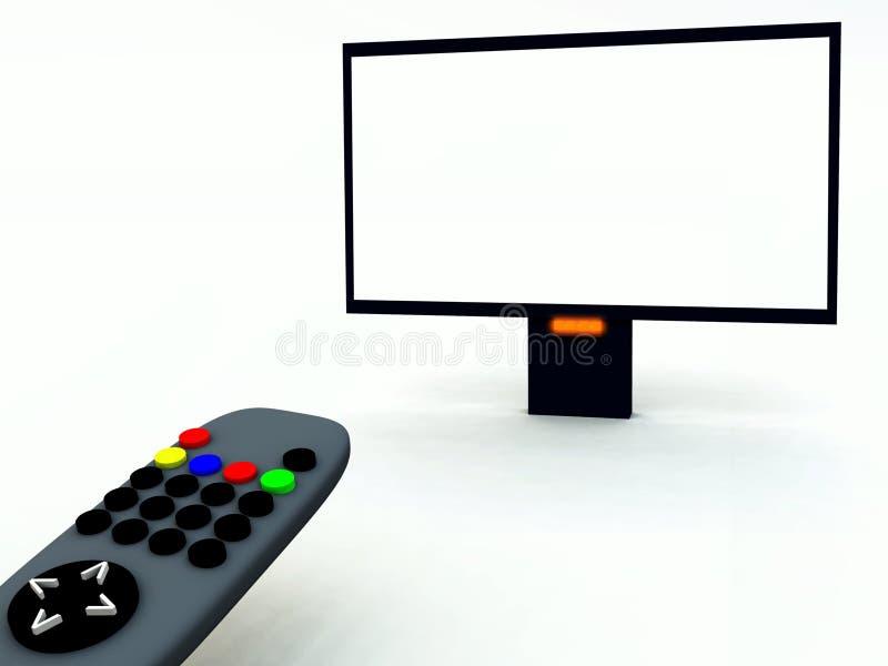 Fernsehsteuerung und Fernsehapparat 23 vektor abbildung