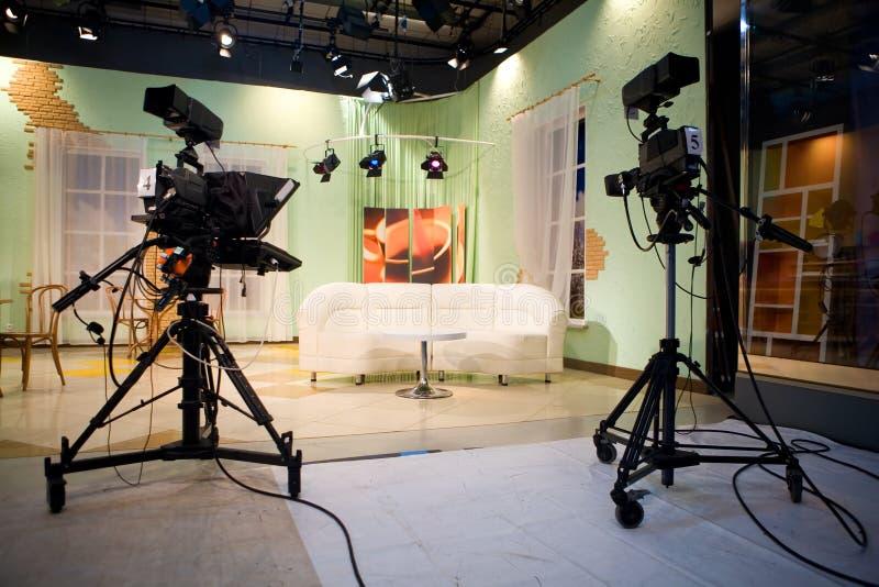 Fernsehstudio stockbilder