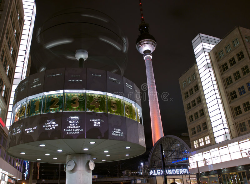 Fernsehturm Alexanderplatz Clock Stock Photography