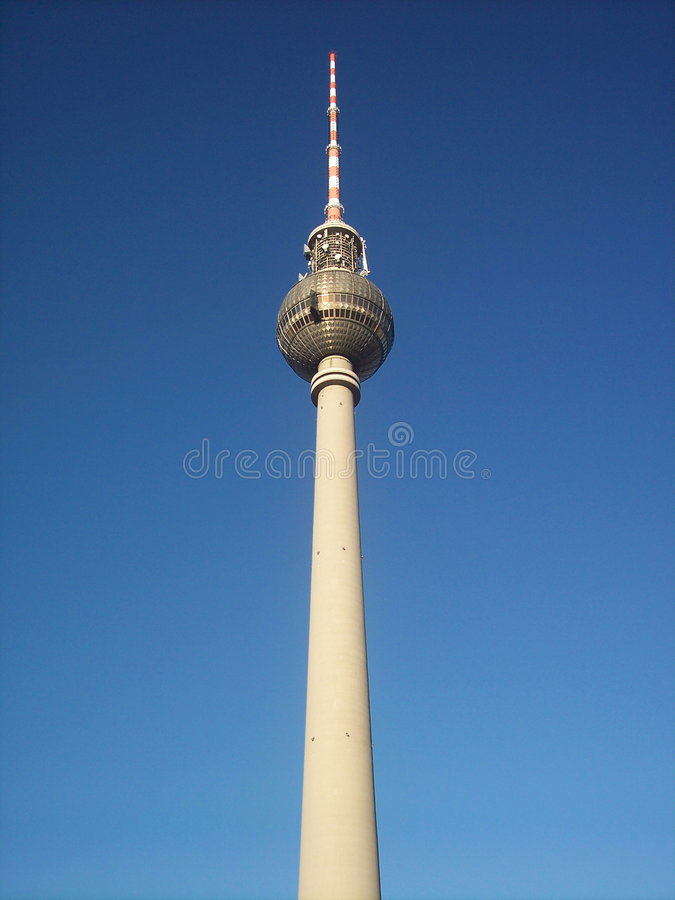 Fernsehturm Berlijn stock foto