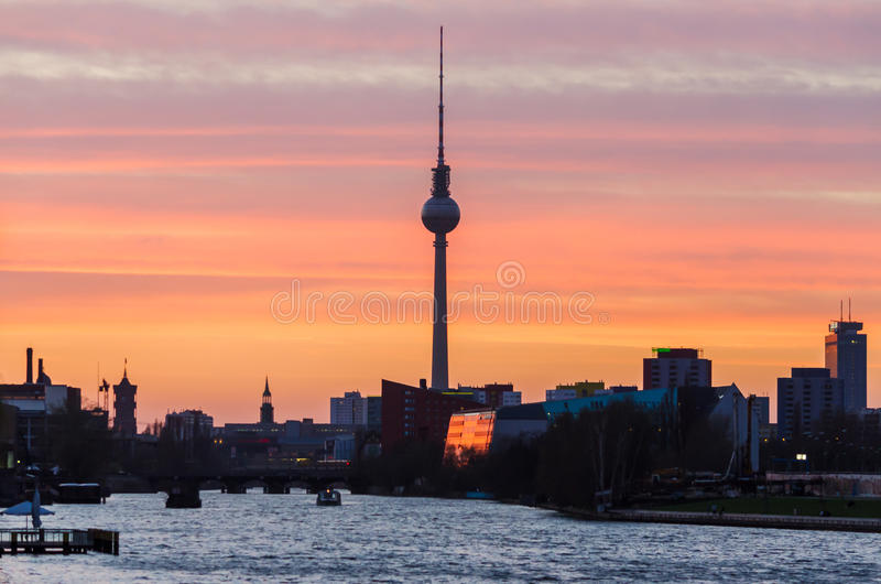 Fernsehturm in Berlin, Deutschland stockfoto