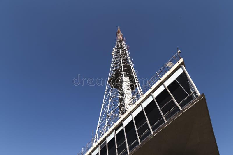 Fernsehturm in BrasÃlia/DF/Brazil Es ` s über Telekommunikation lizenzfreies stockfoto