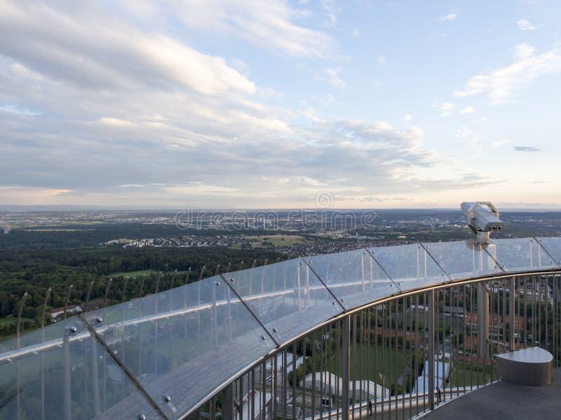 Fernsehturm Stuttgart top observation deck royalty free stock photos