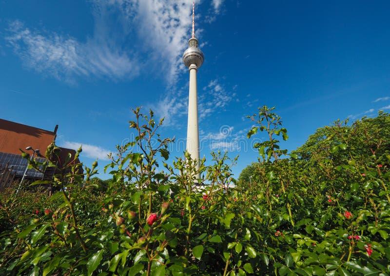 Fernsehturm (torre da tev?) em Berlim foto de stock royalty free