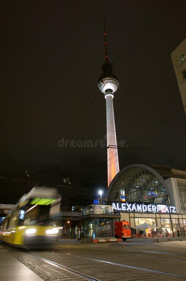 Fernsehturm and tram at alexanderplatz