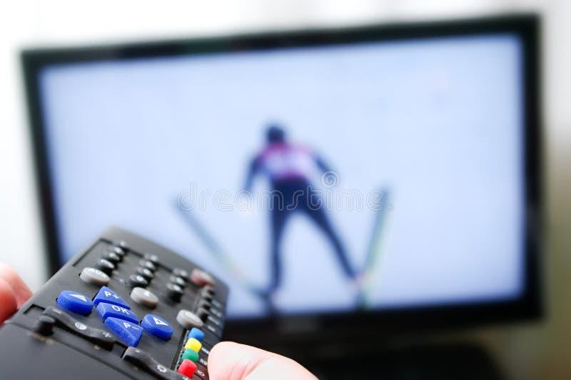 Fernsteuerungs - Skispringen stockbild
