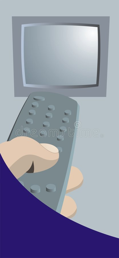 Fernsteuerungs- und Fernsehbildschirm lizenzfreie abbildung