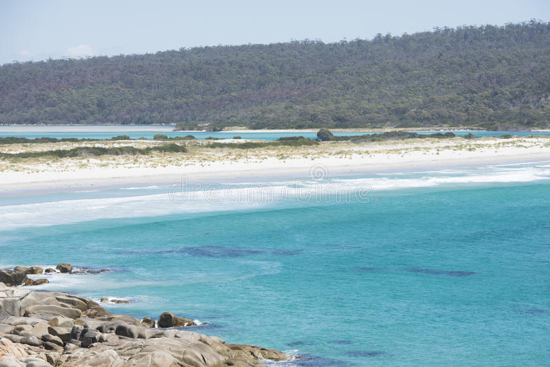 Fernstrand Bucht von Feuern Tasmanien lizenzfreie stockbilder