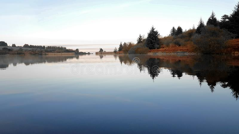 Fernworthy ReservoirDartmoor, Devon imagem de stock